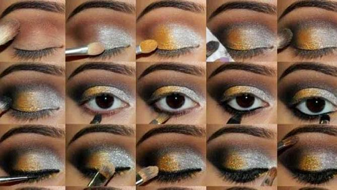 Maquillaje de Ojos para Año Nuevo, parte 3