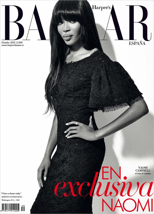naomi campbell harpers bazaar spain october 2013