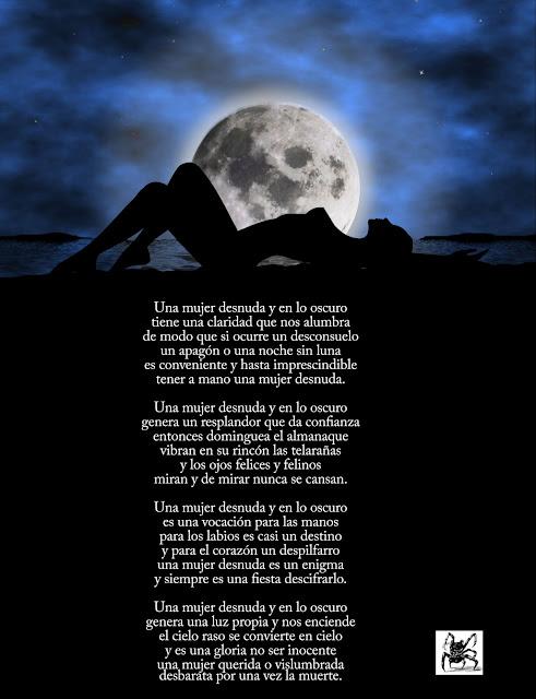 Poesía de Mario Benedetti: Una mujer desnuda y en la oscuridad