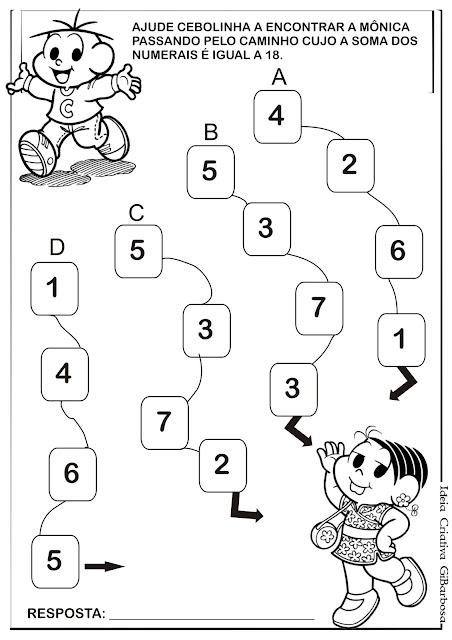 Labirinto Soma Turma da Mônica