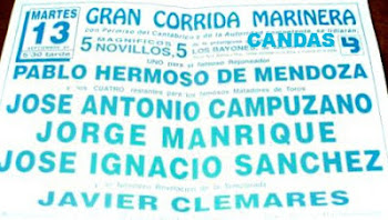 CARTEL TOROS CANDÁS