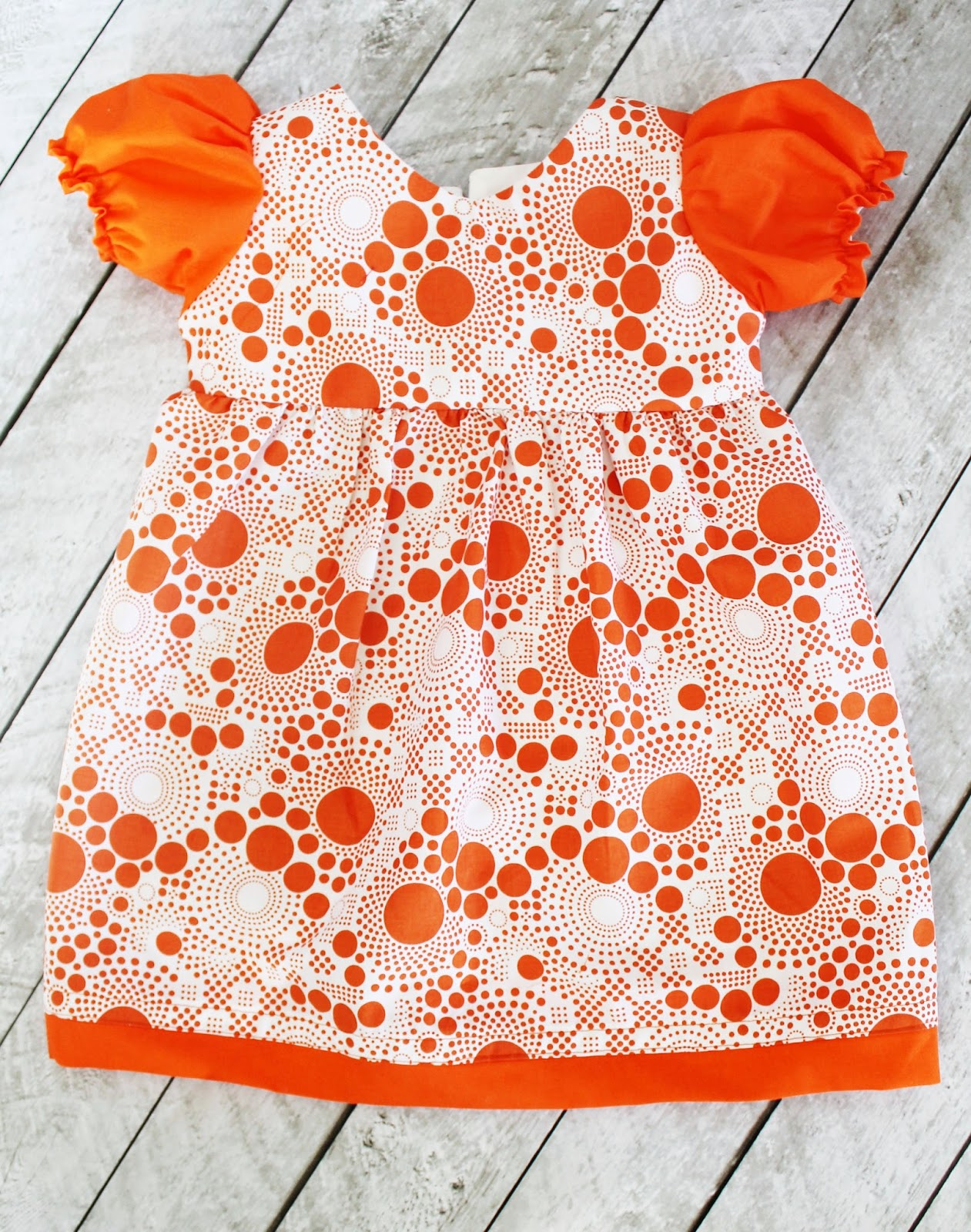 Puff Sleeve Toddler Dress with Free Sewing Pattern | The Stitching ...