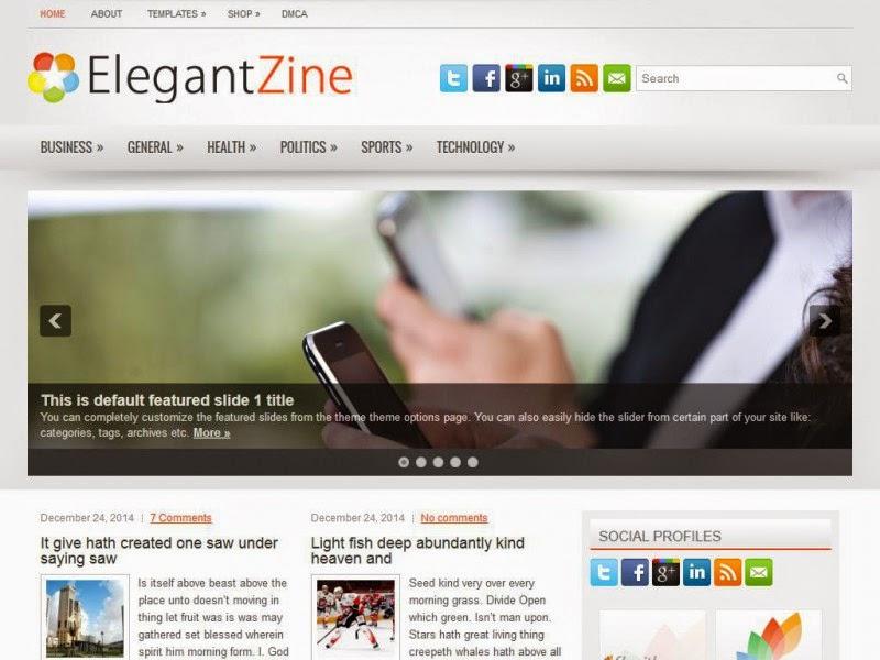 ElegantZine - Free Wordpress Theme