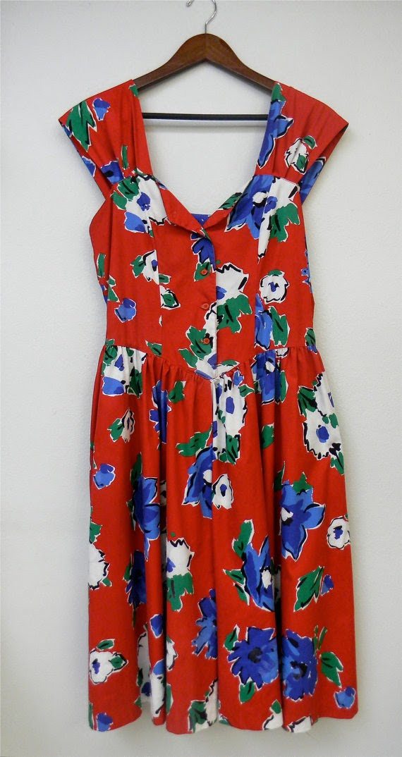 Vintage 80s Large Sundress