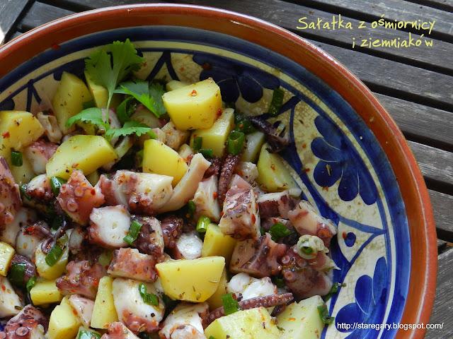 Sałatka z ośmiornicy i ziemniaków