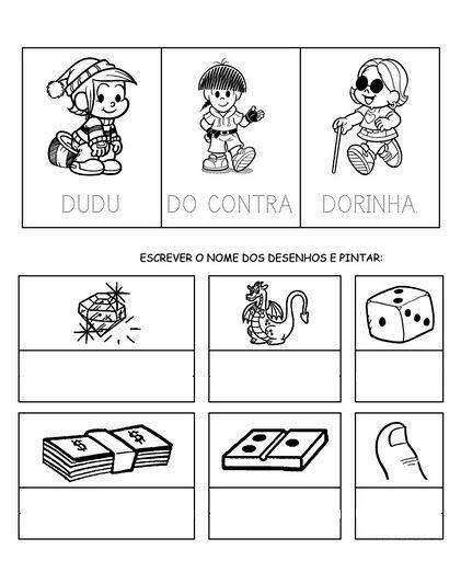 Atividades de Alfabetização coma letra D