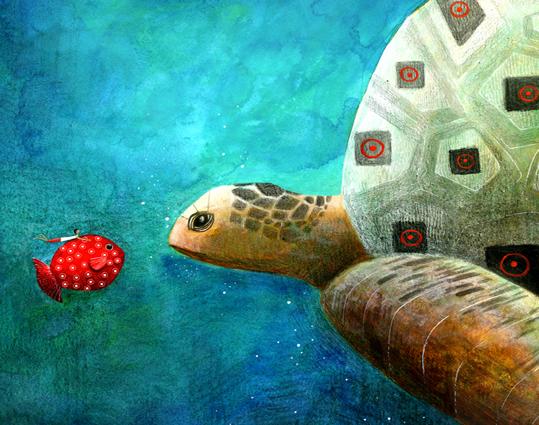 justine brax illustration voyage poisson