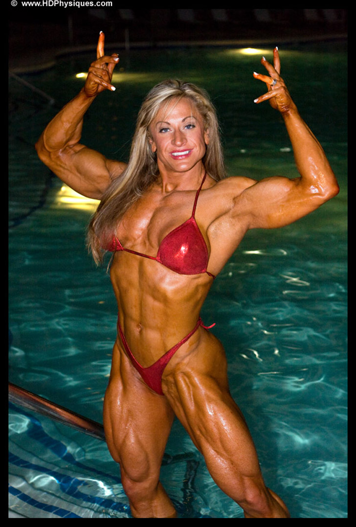 Heather Policky - Armbrust Flexing Her Biceps And Modeling Her Shredded Muscles