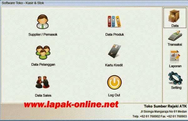 Software Penjualan Toko, Kasir, Pembukuan dan Stok Barang