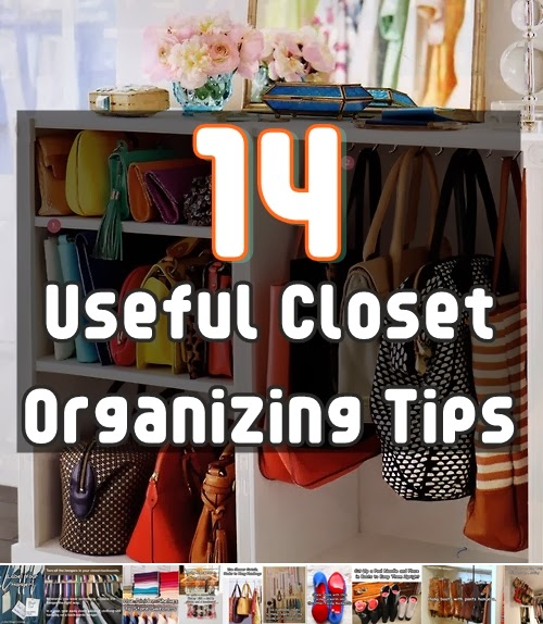 14 useful closet organizing tips diy craft projects for Ideas to organize closets