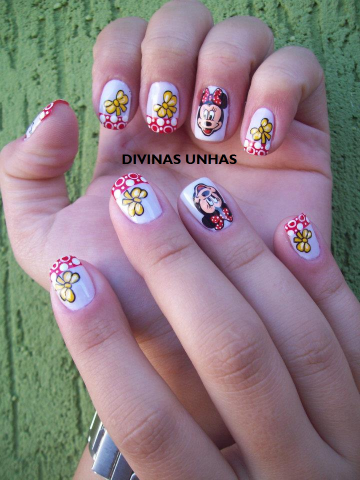 FOTOS DE UNHAS DECORADAS DA MINNIE BY SAULLA GON  ALVES