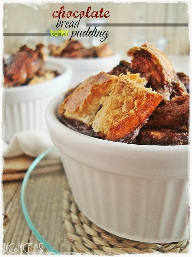 Chocolate Bread and butter Puddind