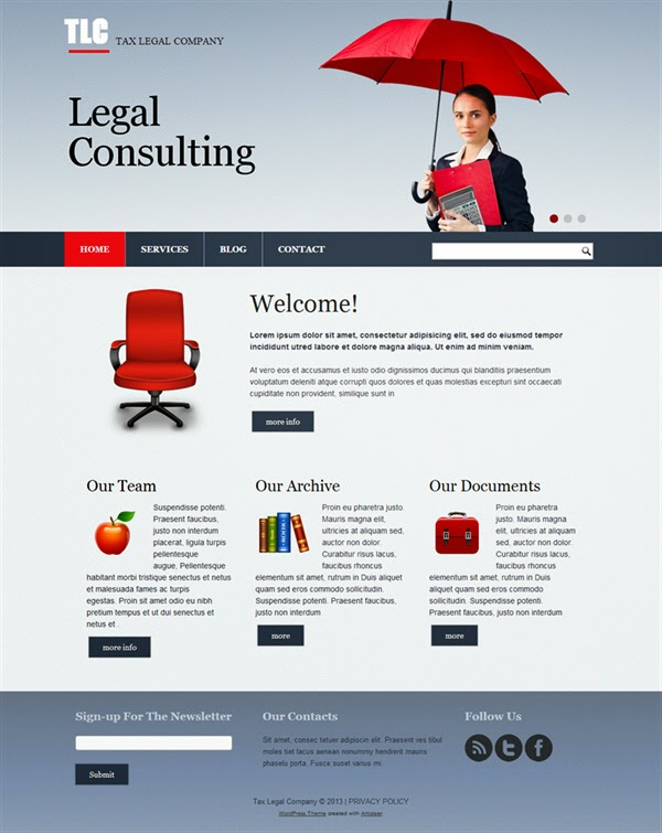 TLC Tax Legal Company  - Free Wordpress Theme