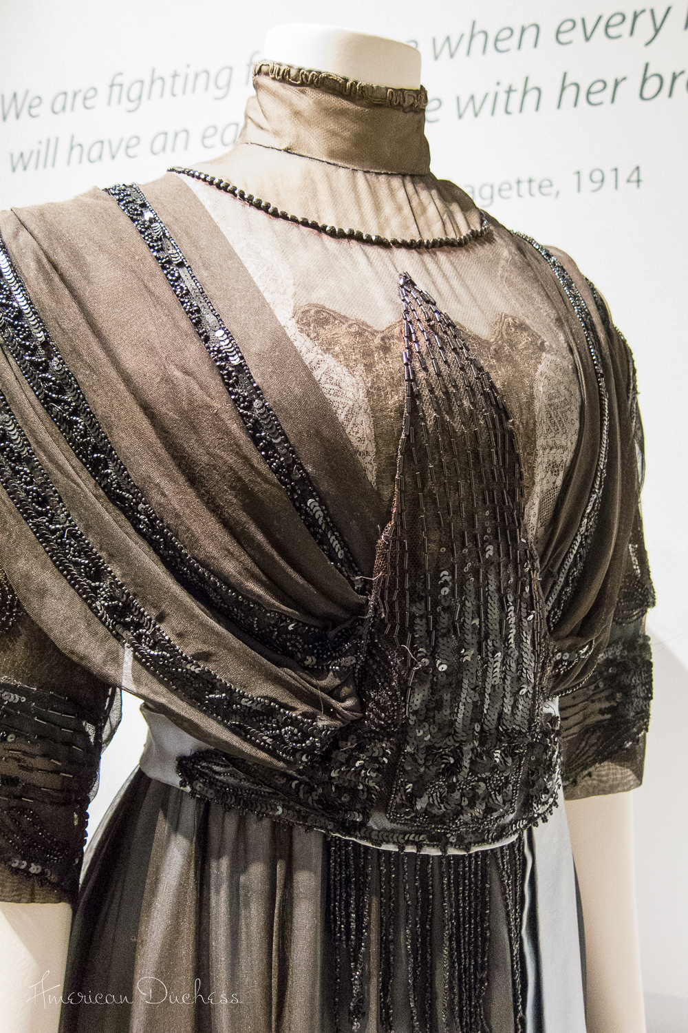 Gown by T & S Bacon, Liverpool, c. 1910-1912. Lady Lever Art Gallery