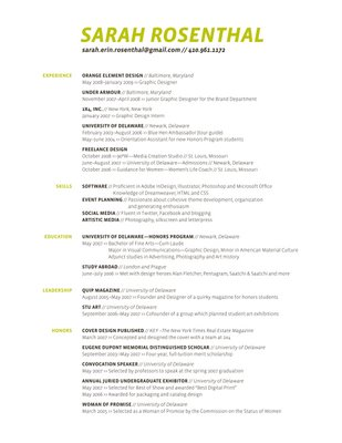 freelance graphic designer resume internship format your resume
