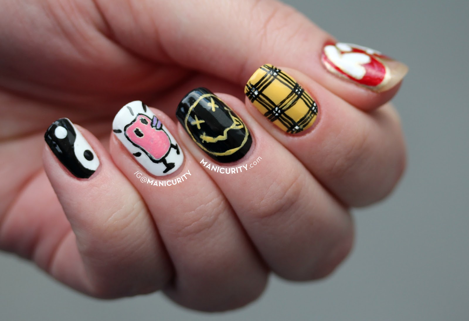 90s nail designs ~ Beautify themselves with sweet nails