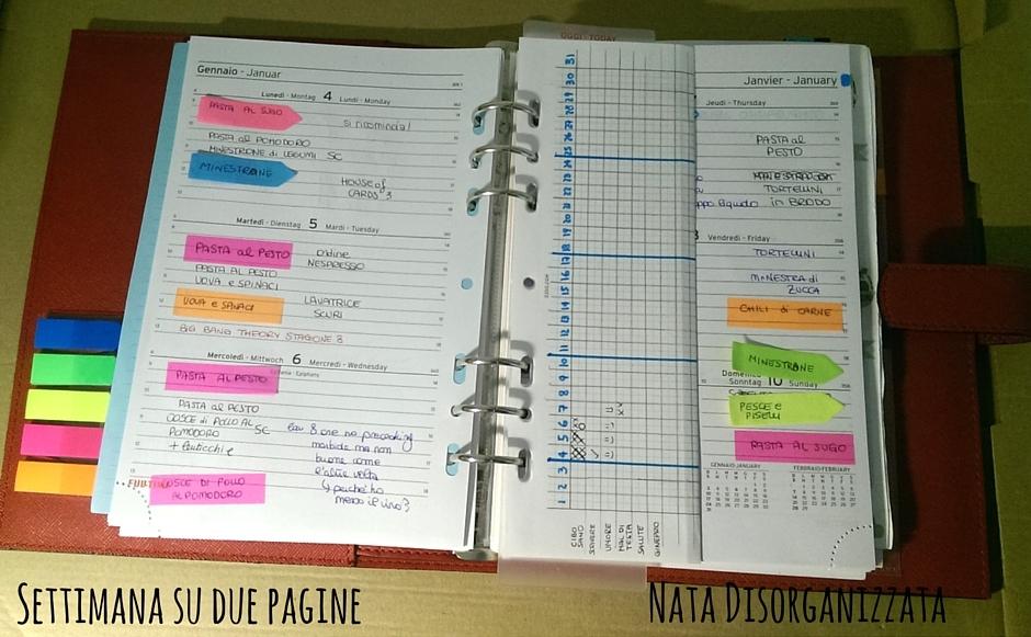 Nata disorganizzata: setup dell'agenda di casa 2016: tantissime novità