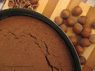 Hazelnuts and choco cake