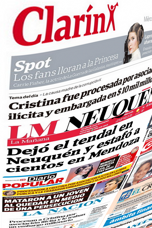 Tapas Principales Diarios de Argentina