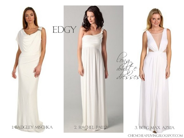 long white dresses 2012 alternative wedding and white gowns under 1000