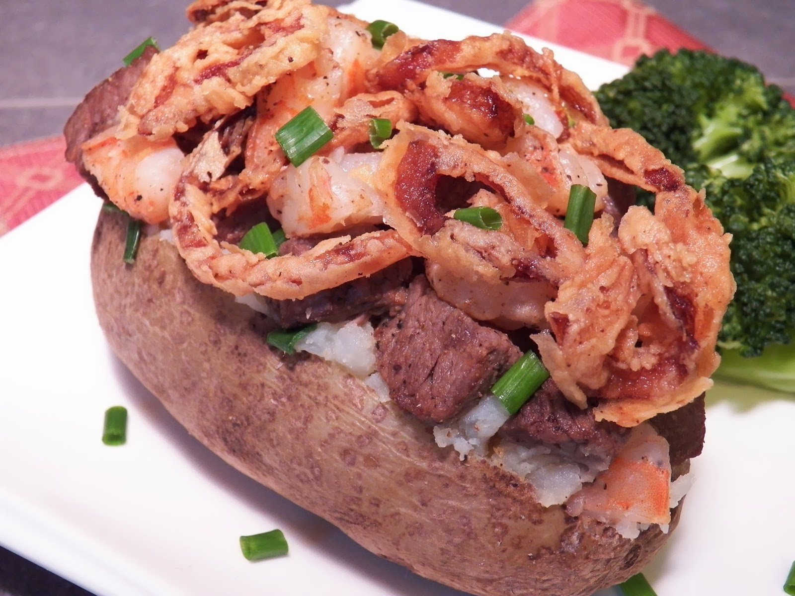 Surf and Turf Stuffed Potatoes Angled View
