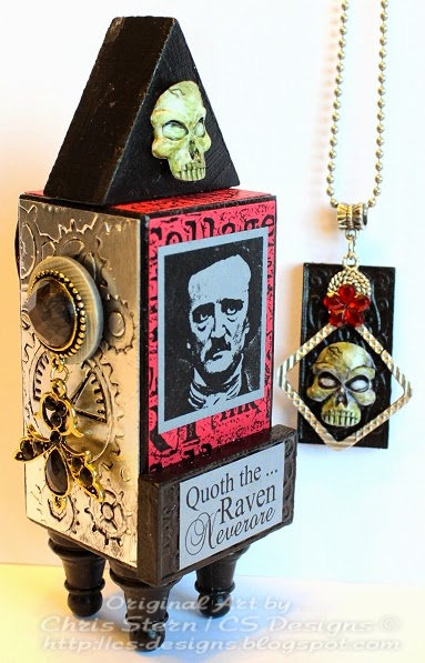 Edgar Allan Poe Artist Trading Block