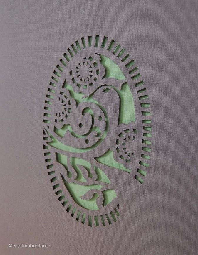 Papercutting project septemberhouse floral bird paper cut