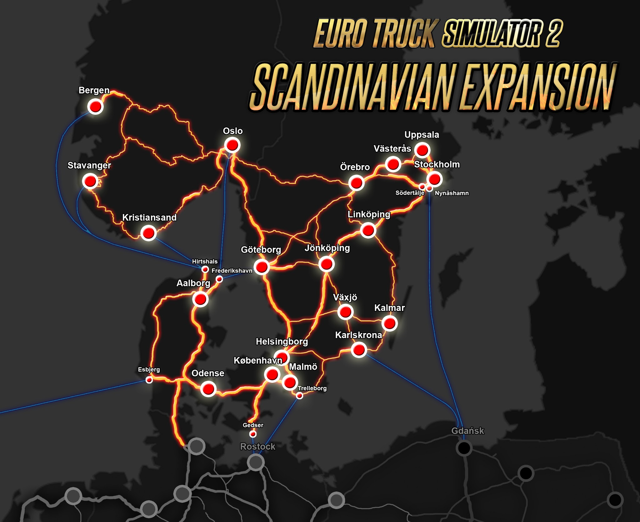 Buy Euro Truck Simulator Scandinavia From The Humble Store - Portugal map euro truck simulator 2