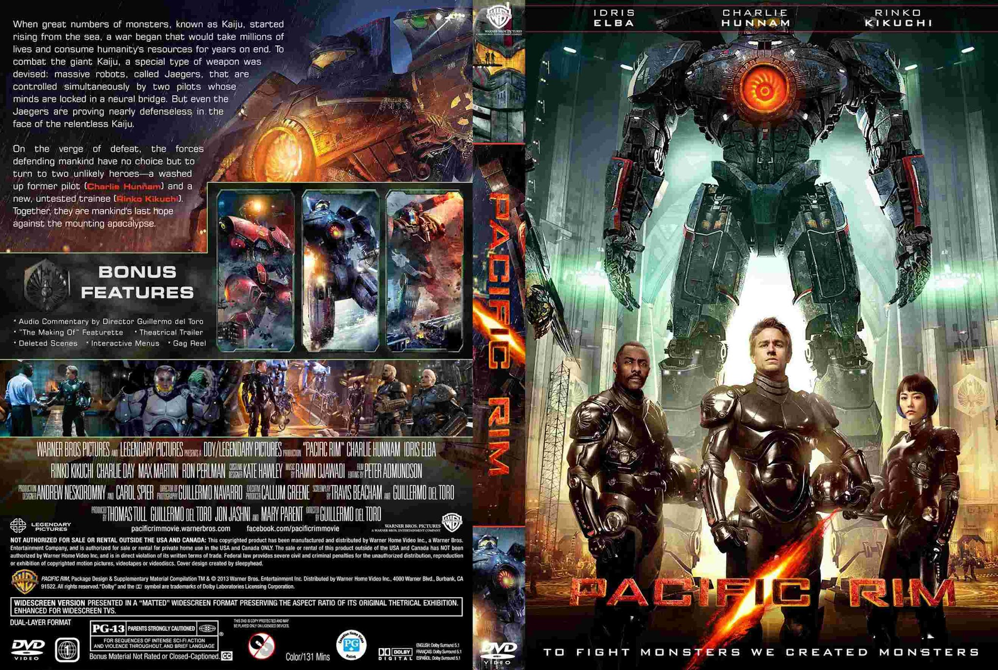 To fight monsters we created monsters Pacific Rim 2013 Bluray