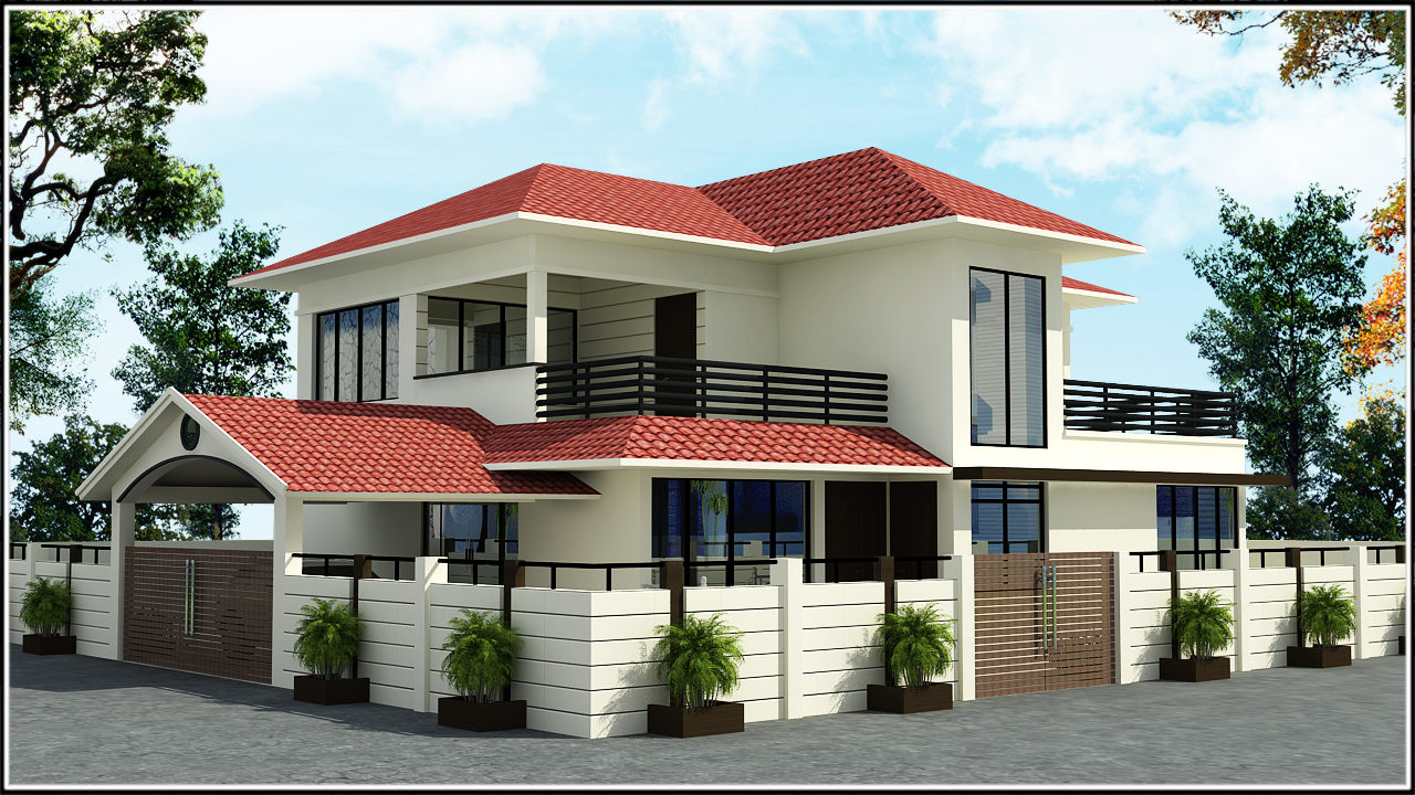 Ghar planner leading house plan and house design for Front view of duplex house in india