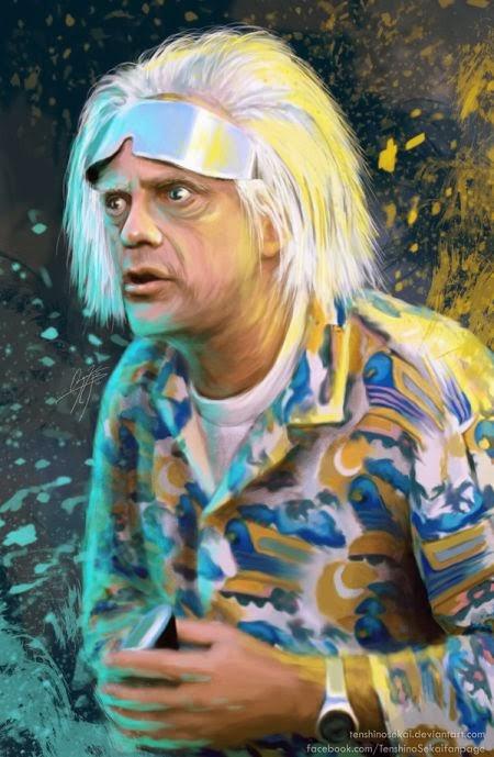 Angela Bermudez deviantart pinturas filmes cultura pop cinema Christopher Lloyd como Dr. Emmett