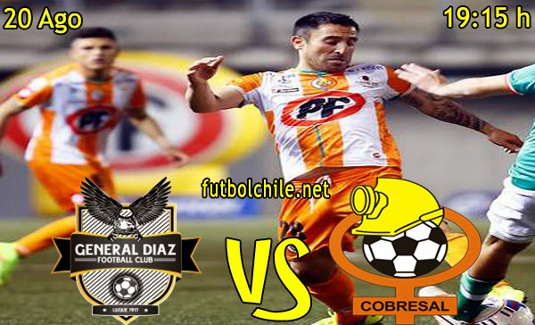 General Diaz vs Cobresal - Copa Sudamericana - 19:15 h - 20/08/2014