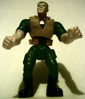 Front of Major Chip Hazard action figure from Burger King 1998