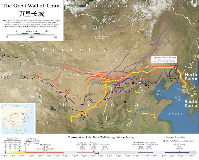 Construction of the Great Wall during Chinese History