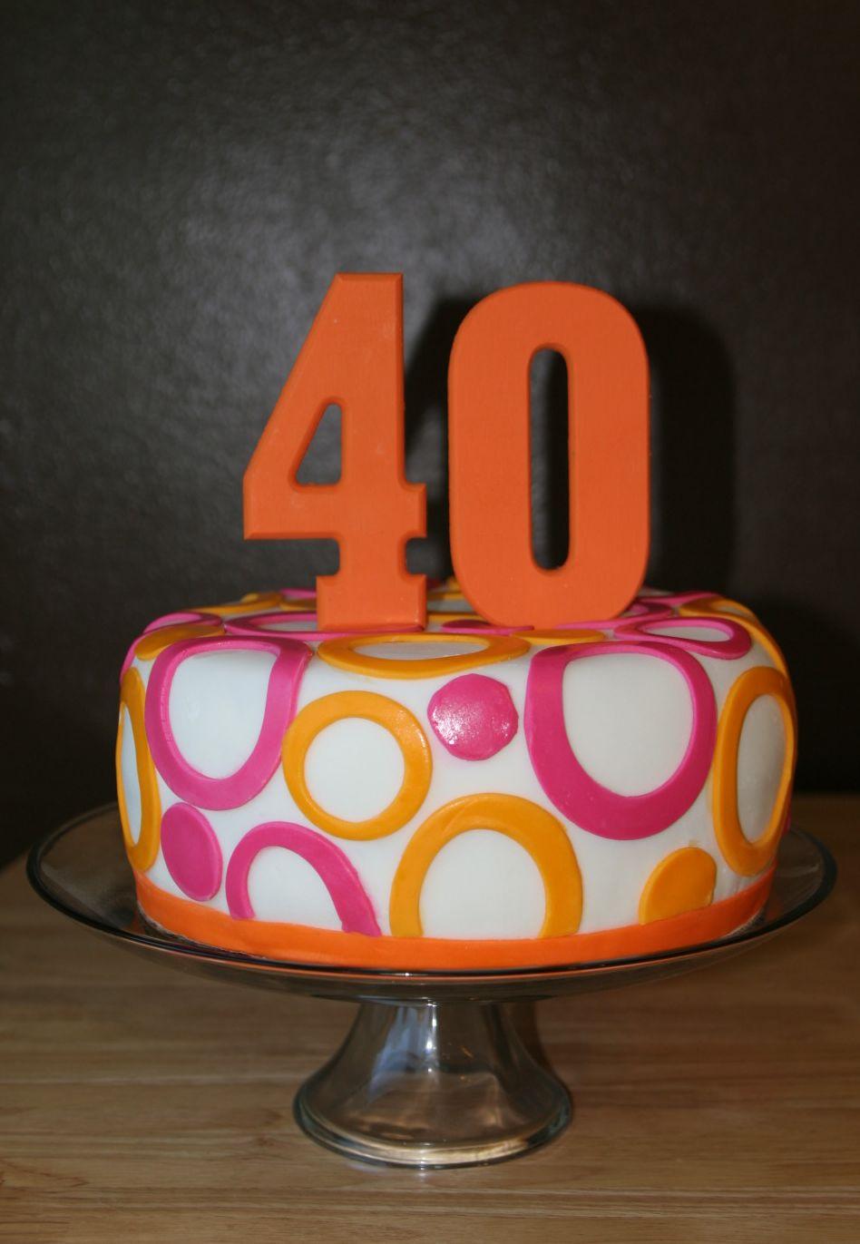 Purple Paisley Designs Cake Design 40th Birthday Party