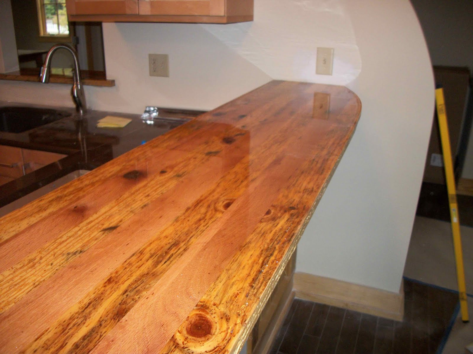 Reclaimed Wood Kitchen Island Countertop