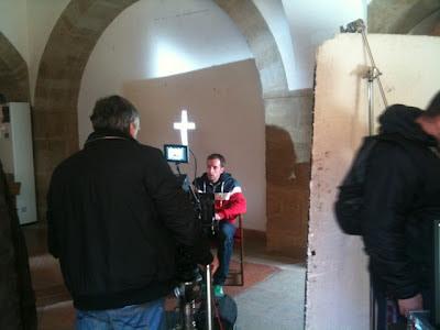 Rodaje El Aprovechamiento Industrial de los Cadaveres en La Alhóndiga, Villanueva de los Infantes, Campo de Montiel, Ciudad Real, Castilla la Mancha, España