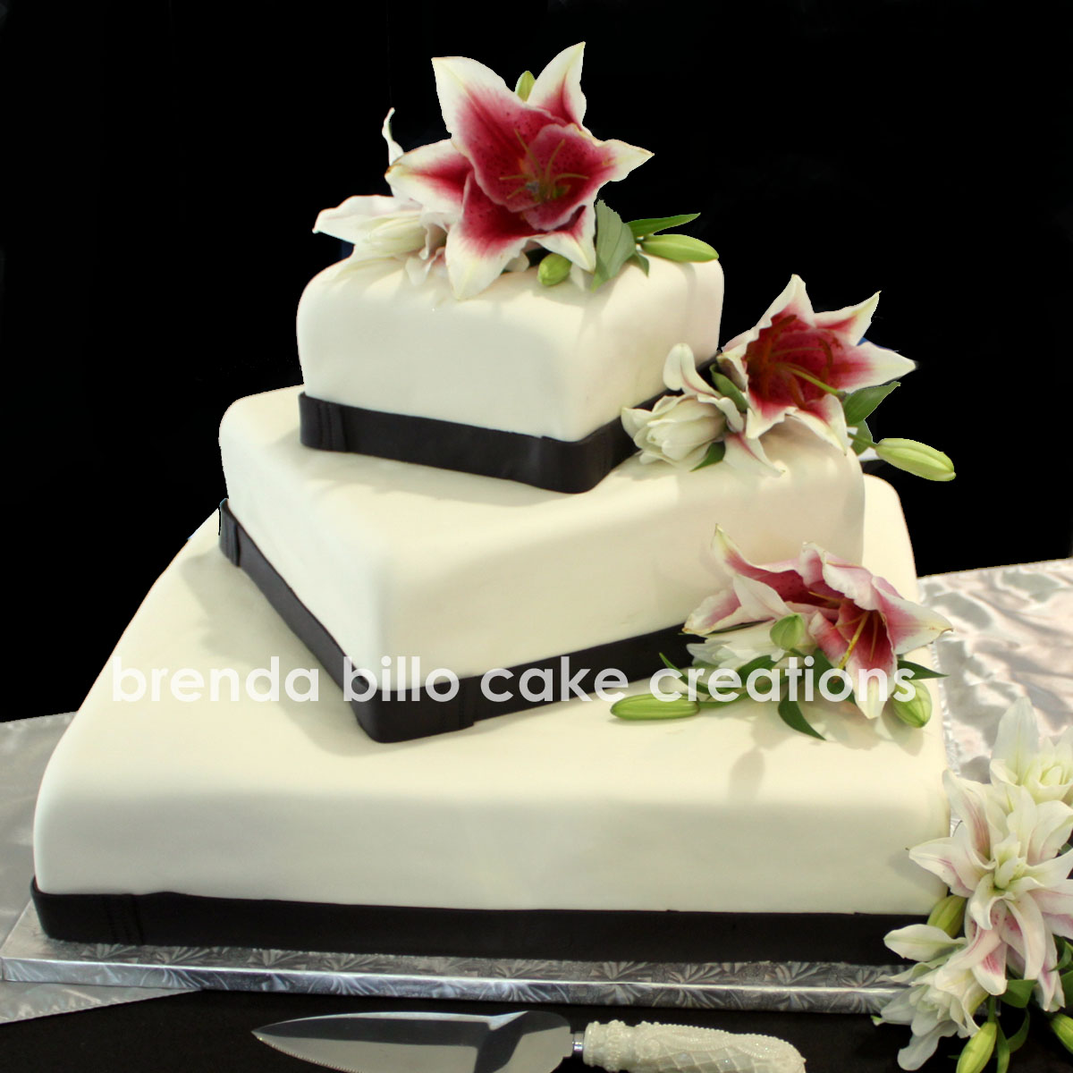 Brenda Billo Cake Creations pink lily square