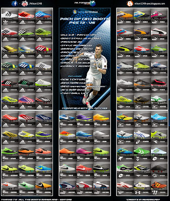 PES 2013 Pack of (81) Boots Pes 13 - V6 Full HD