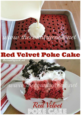 Red Velvet Oreo Poke Cake, Tasty Fun Recipes, Easy Recipes, Fun Recipes
