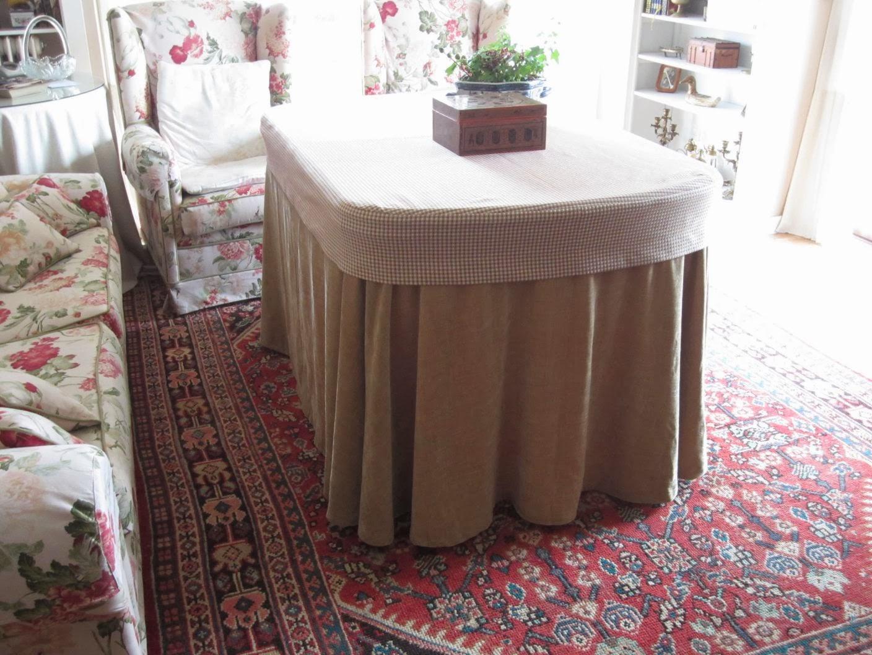 Patrones de costura falda de camilla ovalada o irregular - Mesa camilla moderna ...