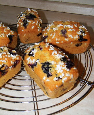 piccoli plumcake ai mirtilli