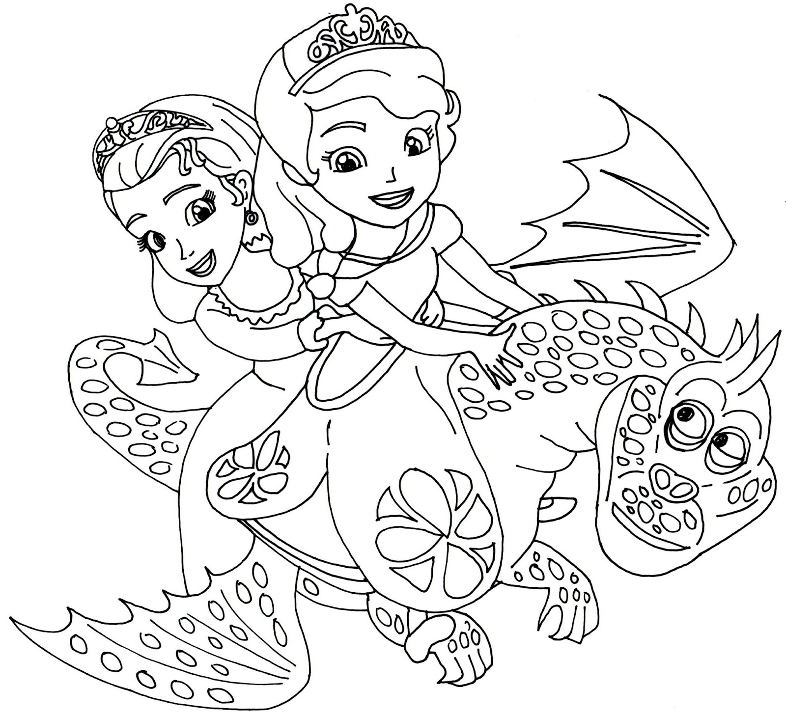 sofia the first coloring pages dragons of enchancia sofia the