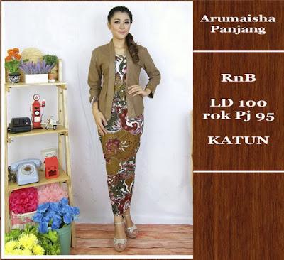 Baju Batik Gamis (Muslim) Arumaisha Dbg-689