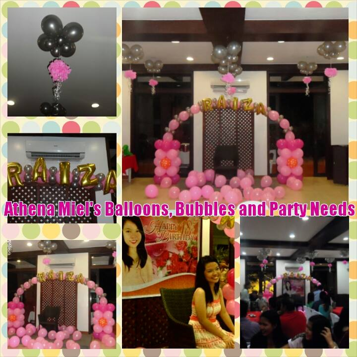 Raiza Just Wanted A Simple Debut Set Up For Her 18th Birthday Party She The Silver And Pink Motif Balloons Named Spelled On