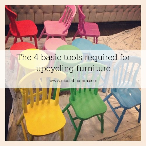 I discuss the four basic tools that I use to upcycle furniture, sanding tools, paint, paintbrushes and wax