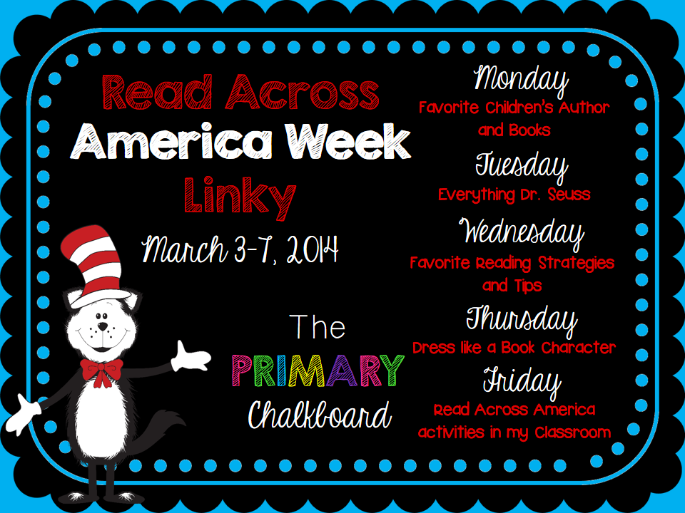 http://primarychalkboard.blogspot.com/2014/03/monday-favorite-childrens-author-and.html