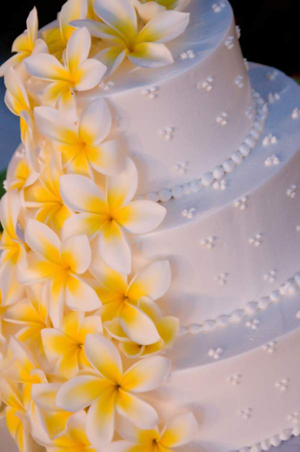 maui wedding cakes pictures