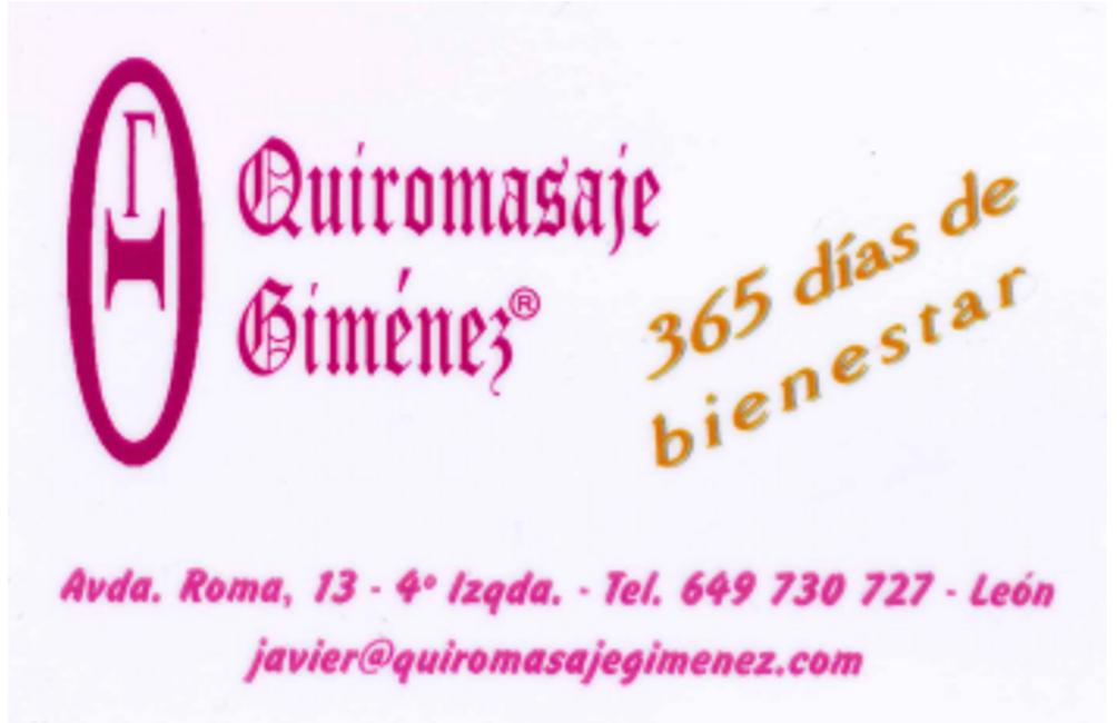 Quiromasaje Giménez