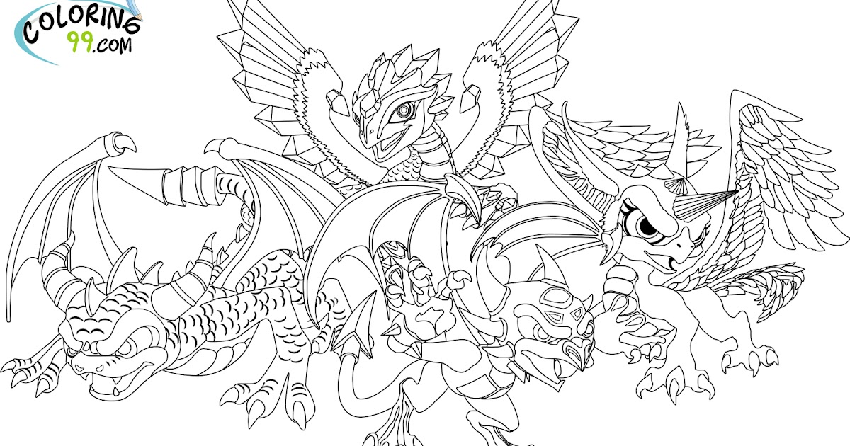 Skylanders Dragons Coloring Pages